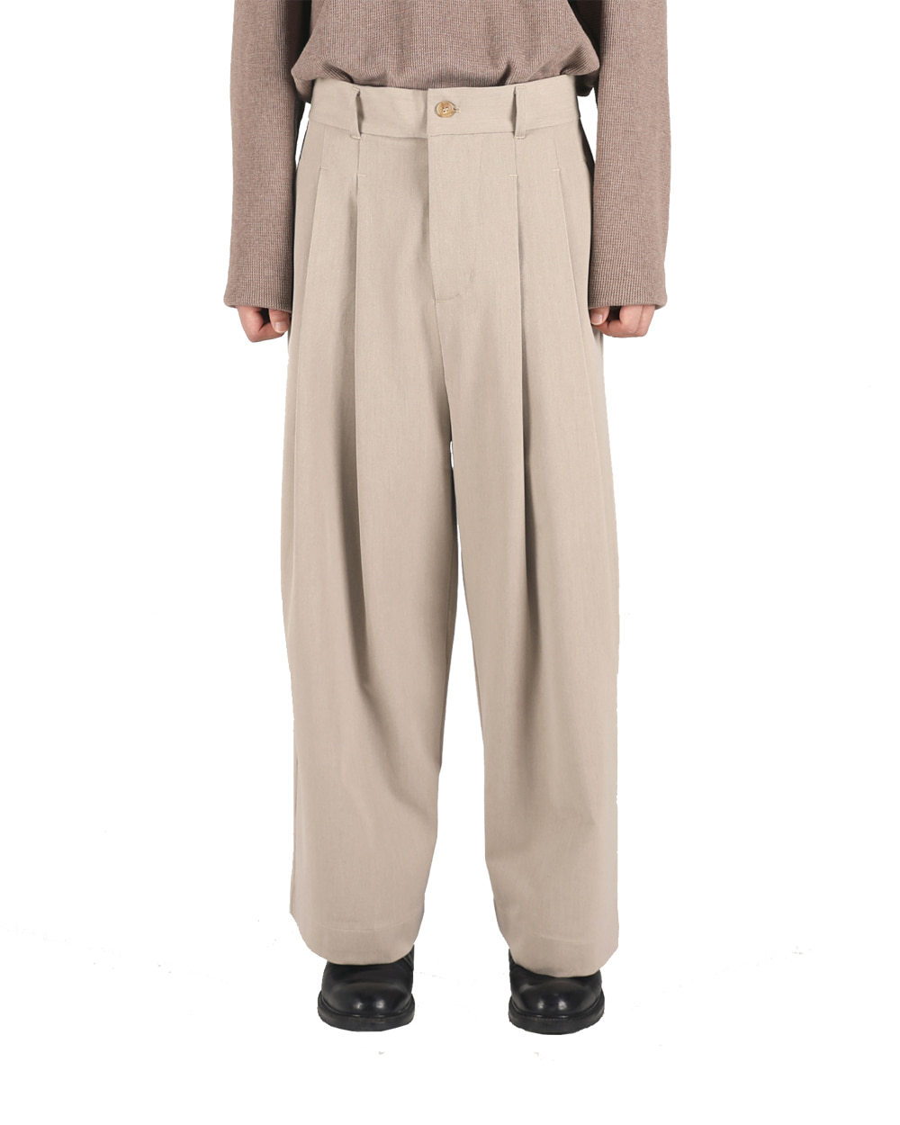 오파츠 Wide-leg long pants (Latte)
