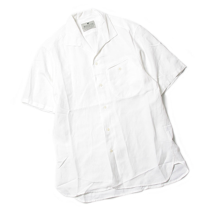 비헤비어 FLIGHT SHIRTS_WHITE